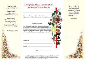 Seraphic Mass enrolment
